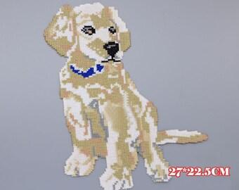 Cross Stitch Embroidered Dog Patch, Dog Applique Embroidery Design,Iron on Patch,Dog Applique Embroidery Designs,Clothes,Pug Patches,Dog