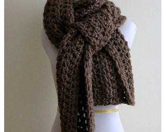 CHUNKY LONG SCARF, blanket scarf, long winter scarf, Long cozy scarf, winter shawl scarf, soft and easy to wear
