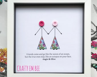Button Frame   Friendship • Personalised