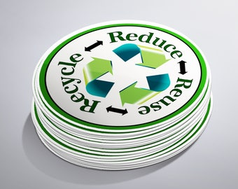 Recycle Stickers, Packaging Stickers, Trash Stickers, Garbage Stickers, Recycle Decal, Planner Stickers, Cute Stickers, Recycle Symbol