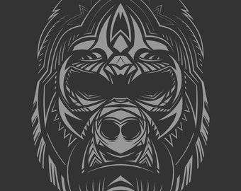 New 2 T-Shirt Bundle Abstract Gorilla Rhino Face Wildlife Animal Men Women