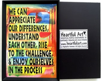 WHAT WE Can Do Inspirational Magnet Motivational CLASSROOM Decor Family Friends Gift Business Nonprofit Heartful Art by Raphaella Vaisseau
