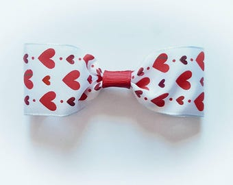 Hearts Side Hairbow