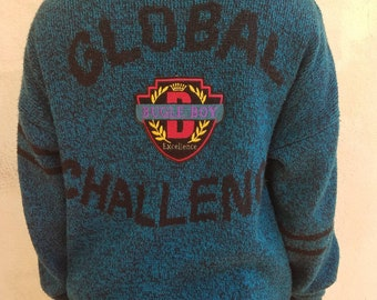 "RARE Vintage ""Bugle Boy Jeans"" Varsity Sweater - 80's / 90's"