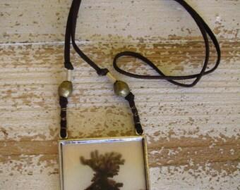 Wild Cactus Pendant Necklace,