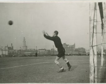 Vintage Snapshot Mini-Photo, c1930s: Goalkeeper [84663]