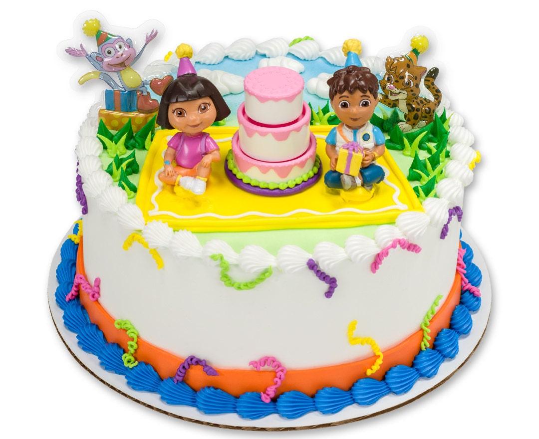 Japanese Dora Cake Recipe: Dora Cake Topper Kit/ Dora Birthday Cake Topper/ Dora