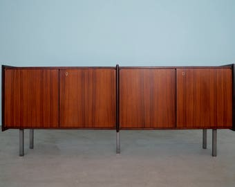 Stunning Mid-Century Danish Modern Credenza Sideboard in Rosewood w/ Key - Professionally Refinished!