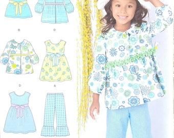 Simplicity 1476 Childs Dress Top pants and Jacket Pattern Ruffled Childrens Spring Summer Clothing Pattern  Childrens Size 3 to 8