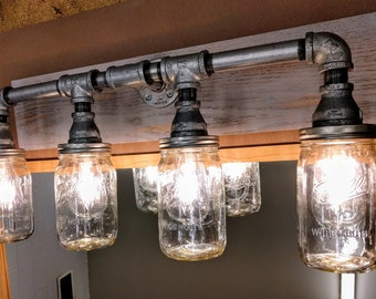 Vanity Light Fixture Mason Jar Lighting Bathroom Lighting