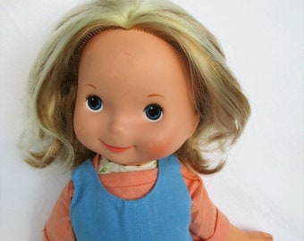 "Spring SALE 20% OFF Vintage 1977 My Friend Mandy Doll with Blonde Hair by Fisher Price 16"" doll 211"