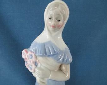 Vintage Llado Style Porcelain Woman Figurine Collectibles Nao Rosal Home Decor