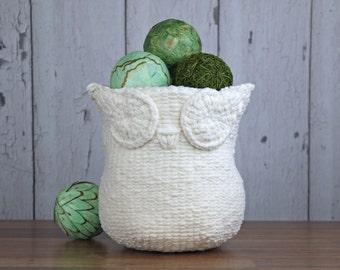 Knitting Pattern ~ Knit Owl Basket ~ Knitting Pattern