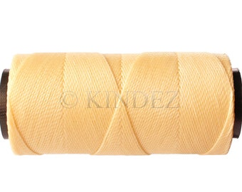 Waxed Polyester - 15 meters/16 yards - Bracelet Cord  - Ivory/Cream