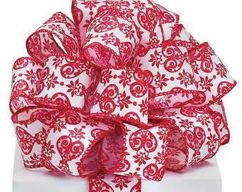 1.5 x 5 yards- heart print ribbon, Valentine ribbon, valentine ribbons, valentines day ribbon, Happy Valentines Day Ribbon