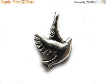HALF PRICE 10 Silver Dove of Peace Charms - 18mm