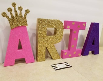8 inch tall paper mache themed letter. Priced for one letter.