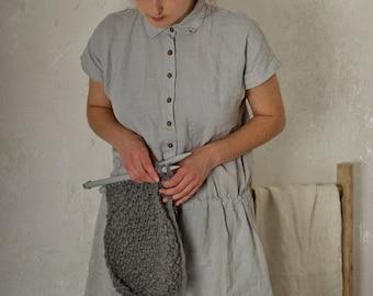 linen dress JUNE | breastfeeding friendly