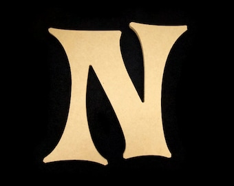 """16"""" Unfinished Wooden Letter, Crazy Harold font, 1/2"""" thick w/Key Hole, Ready to Paint, Made in USA 16CH50      -4"""