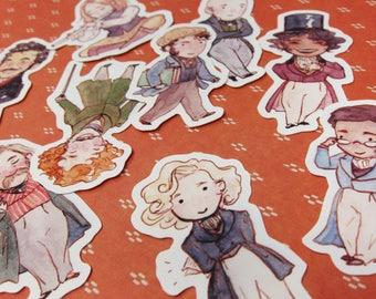 Les Amis de l'ABC Stickers - Les Misérables Vinyl Stickers