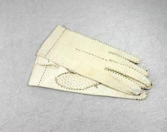 Beautiful White Leather Gloves Elegant White Ladies Gloves Vintage White Gloves Fancy White Gloves For Women
