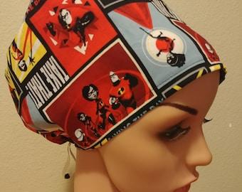 Women's Surgical Cap, Scrub Hat, Chemo Cap,  The Incedibles