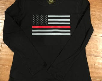 Long Sleeve Thin Red Line