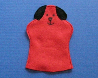 Red Dog Hand Puppet, Party Favor