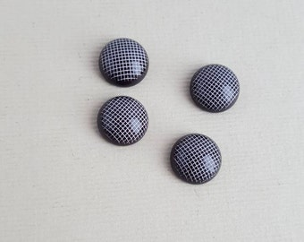 Vintage black and white cabochons