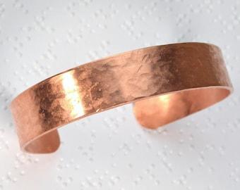 Hammered Copper Cuff Bracelet, Copper Bracelet, Hammered Cuff Bracelet, Hammered Bracelet, Hand Hammered Bracelet, Textured Cuff Bracelet