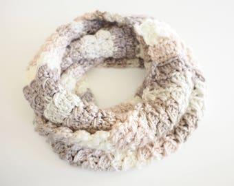 Infinity Scarf Crochet Pattern | Chunky Yarn Scarf Crochet Pattern | Crochet Cowl Pattern | Easy Crochet Pattern | Neck Warmer | PDF Pattern