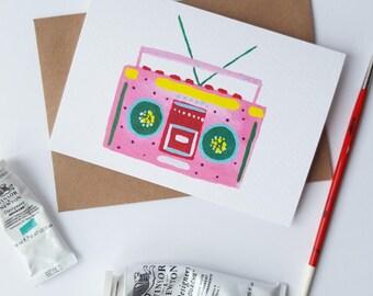 Boom Box A6 Card