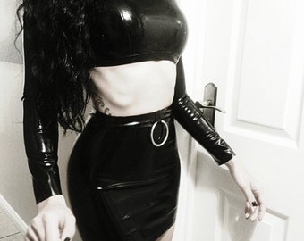 MADE TO ORDER. Ausrie Fel simplicity latex skirt