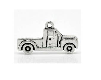 SET of 3 charms (E10) silver car truck