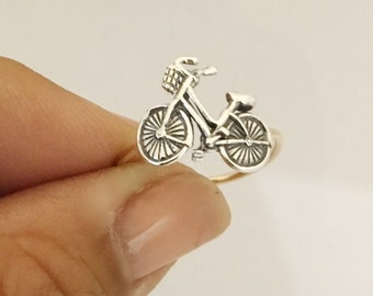 Bicycle Ring in Sterling Silver and Gold Filled - This is How I Roll