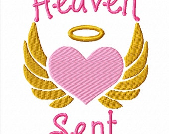Heaven Sent -A Machine Embroidery Design for Baby and Children