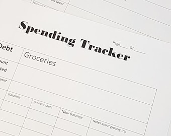 Grocery Budget Spending Tracker 2for1