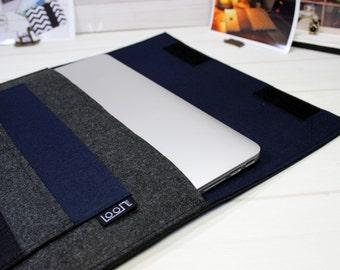 Laptop sleeve, MacBook case, MacBook Pro sleeve, laptop case, MacBook Pro case, MacBook sleeve 15, Asus sleeve, navy blue, laptop pouch