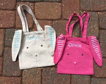 Easter Bag, bunny bag, personalized Easter bag, Easter bunny bag, personalized, peraonalized Easter bunny bag, Easter Present