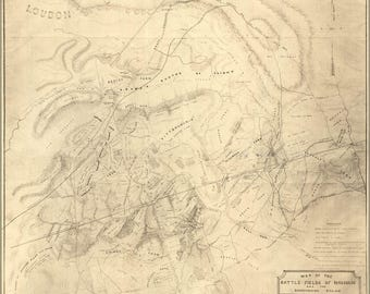 Poster, Many Sizes Available; 1862 Civil War Map Of The Battle Fields Of Manassas