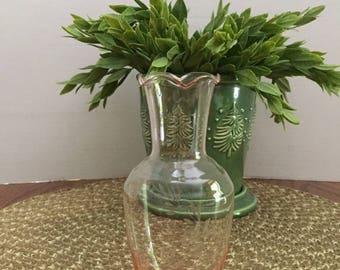 Vintage Pink Glass Bud Vase