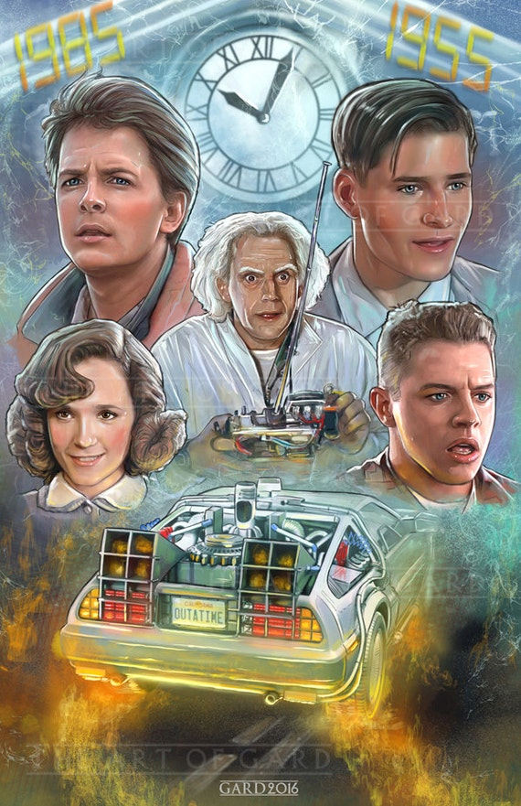 Back to the Future (collage) 11X17 Art Print
