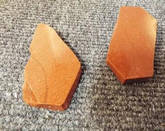 2 Red Gold Stone Slabs