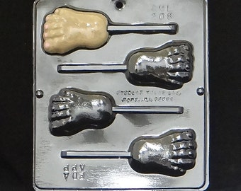 Foot Lollipop Chocolate Candy Mold 208