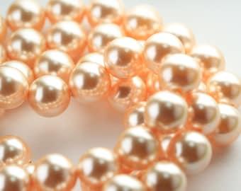 10 pcs, Genuine Swarovski® 5811 12.0 mm Crystal Peach Pearl 300