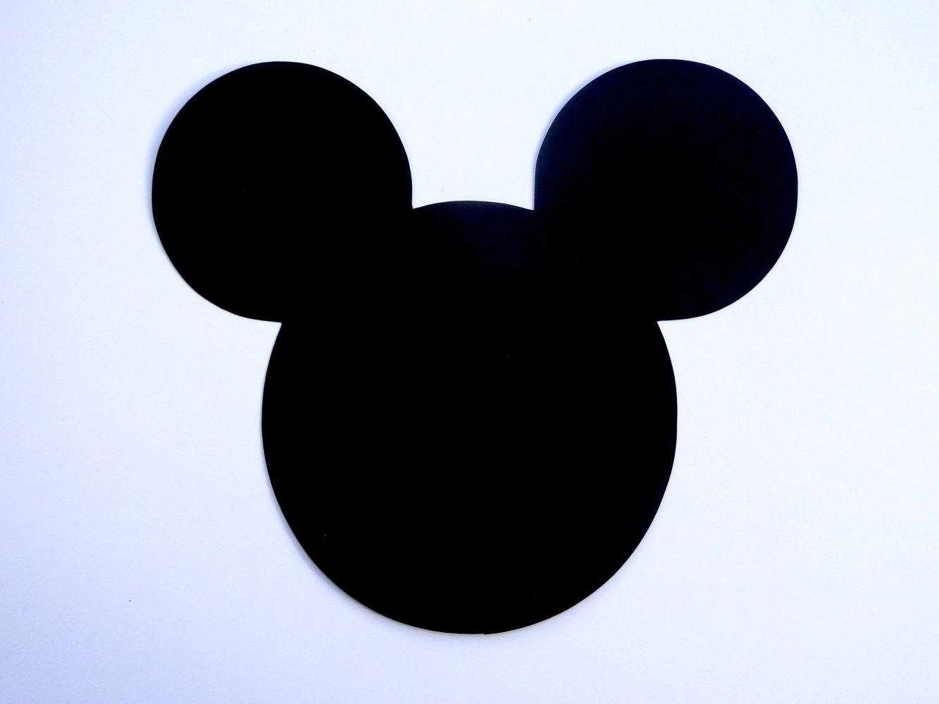 6 Mickey Mouse Head Ears Die Cut Disney Mickey Mouse