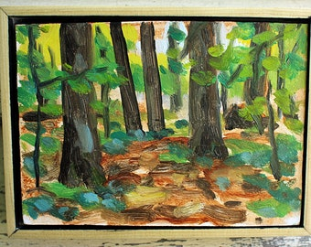 """Leolyn Woods, Lily Dale NY, Plein Air Landscape Oil Painting, 5x7"""""""