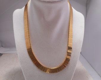 Vintage Napier Fringe Choker Necklace Gold-Tone