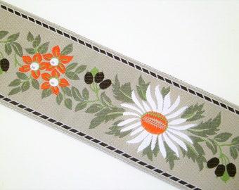 "1 m Woven Ribbon ""Garmisch"" 100 % polyester 55 mm w Dirndl Oktoberfest bavaria"