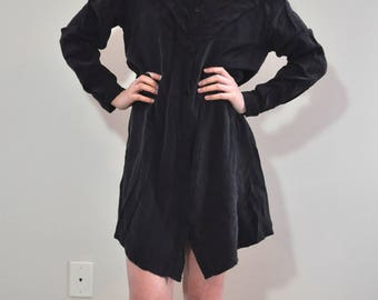 Vintage MiniMarket Black Ruffle LS Dress